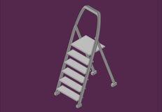 De isometrische vlakke vector van de stapladder Royalty-vrije Stock Fotografie