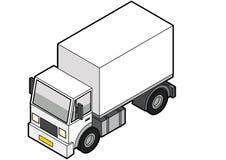 De isometrische Vrachtwagen van de Levering Stock Afbeeldingen