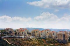 De Israëlische nederzetting van Illit van Beitar in Cisjordanië Stock Foto's