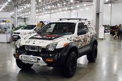De Isuzu VehiCross-auto bij een tentoonstelling in Krokus Expo 2012 moskou Stock Afbeelding