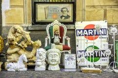 De Italiaanse antieke straat van de opslagstoel Royalty-vrije Stock Foto