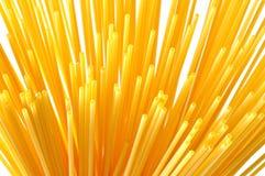 De Italiaanse deegwaren van de spaghetti op wit stock afbeelding