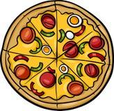 De Italiaanse illustratie van het pizzabeeldverhaal Stock Afbeeldingen