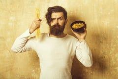 De Italiaanse macaroni van de Hipstergreep royalty-vrije stock foto's