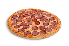 De Italiaanse Pizza van de Salami Stock Fotografie