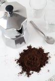 De Italiaanse Pot van Coffe van de Espresso Royalty-vrije Stock Afbeelding