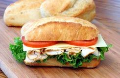 De Italiaanse sandwich van Turkije Stock Afbeeldingen