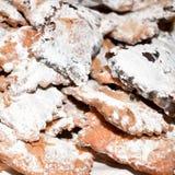 De Italiaanse snoepjes van ` s chiacchere Stock Afbeelding