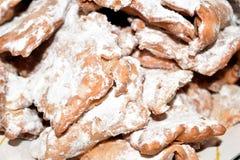 De Italiaanse snoepjes van ` s chiacchere Stock Foto
