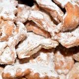 De Italiaanse snoepjes van ` s chiacchere Stock Fotografie