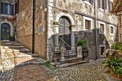 De Italiaanse stad van Castro-dei Volsci royalty-vrije stock afbeelding