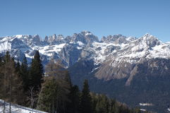 De Italiaanse van de andalosneeuw van alpen winter 9 Stock Fotografie