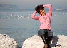 De Italiaanse Vrouw van de Manier (*) royalty-vrije stock foto's