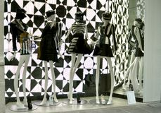 De Italiaanse winkel van de luxemanier in Florence Royalty-vrije Stock Foto