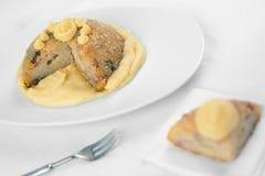 De Italiaanse zoute cake van de Rijst genoemd Sartu Di Riso Stock Fotografie