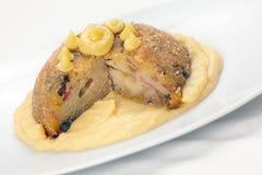 De Italiaanse zoute cake van de Rijst genoemd Sartu Di Riso Stock Afbeelding
