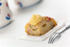 De Italiaanse zoute cake van de Rijst genoemd Sartu Di Riso Royalty-vrije Stock Foto