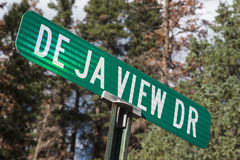 De Ja View Drive, a view road in Ouray, Colorado, USA Stock Images