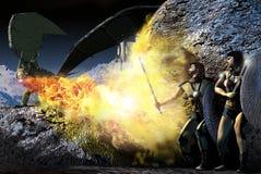 De jacht van de draak Stock Afbeeldingen