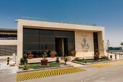 De jachtclub in de Koning Abdullah University van Wetenschap en Technologiecampus, Thuwal, Saudi-Arabië royalty-vrije stock foto