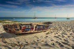 De jachten legden zeehaven Stephens Australia vast stock foto