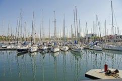 De Jachthaven in Barcelona Stock Foto
