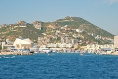 De jachthaven in Cabo San Lucas, Mexico Stock Foto's