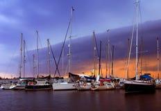De jachthaven in Kalamata stock fotografie