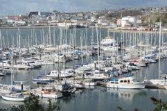 De Jachthaven, Millbay, Plymouth Devon het UK Stock Afbeelding