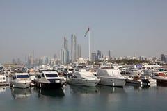 De Jachthaven van Abu Dhabi Stock Fotografie