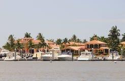 De jachthaven van de boot Stock Foto's