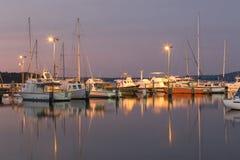 De Jachthaven van de oesterhaven Stock Afbeeldingen