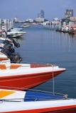 De jachthaven van de snelheidsboot Royalty-vrije Stock Foto