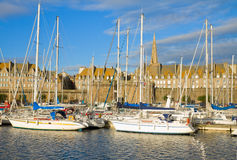 De jachthaven van heilige Malo, Frankrijk stock foto's