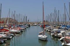 De Jachthaven van Herzliya Stock Afbeeldingen