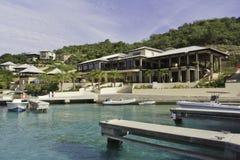 De Jachthaven van het Hotel van Tripical Stock Afbeeldingen