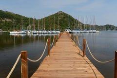 De jachthaven van het jacht in Marmaris, Turkije Stock Foto's