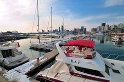 De Jachthaven van het Jacht van de stad van China Qingdao stock fotografie