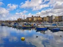 De jachthaven van het Sliemajacht, Malta stock afbeeldingen