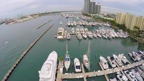 De Jachthaven van het Strand van Miami stock videobeelden