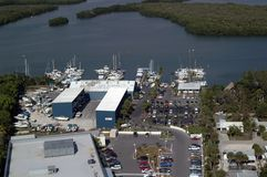 De Jachthaven van het vissenverhaal stock afbeeldingen