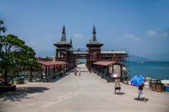De jachthaven van Lingshui van het grenseiland Royalty-vrije Stock Fotografie