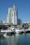 De Jachthaven van Miami Bayside stock afbeeldingen