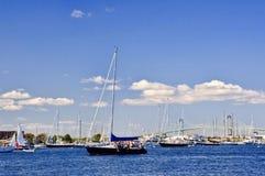 De Jachthaven van Nieuwpoort stock foto