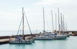 De jachthavenochtend Zakynthos Griekenland royalty-vrije stock fotografie