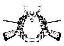 De jachtthema van het kader Royalty-vrije Stock Fotografie