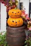 ` De Jack-o - lanterna ou abóbora de Dia das Bruxas Um dos símbolos de Dia das Bruxas Foto de Stock Royalty Free