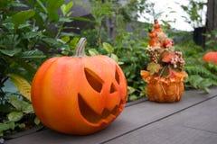 ` De Jack-o - lanterna ou abóbora de Dia das Bruxas Um dos símbolos de Dia das Bruxas Imagens de Stock Royalty Free