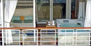 De Jacuzzireeks van de luxe op cruiseschip Stock Afbeelding