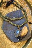 De jade parelt halsband stock fotografie